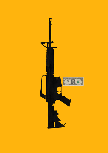 No guns. Poster. Political. Illot